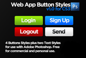Web App Buttons by markprovan