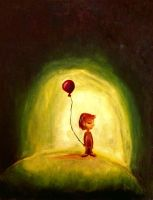 Girl with the red balloon copy by Flyinfrogg
