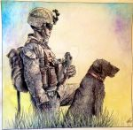 A Marine and His Dog by Silverider