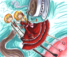 Spinning a Parasol by HappehCakes