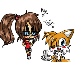 Me and Tails by tailsfan1996