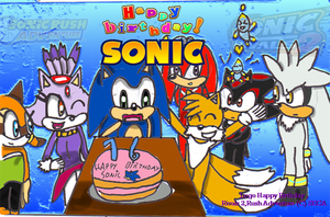 _Old draw_ Sonic 16th birthday by Joellinathedog