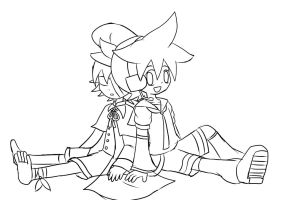 Len - Oliver (lineart) by irzhie