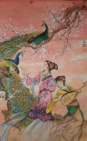 Peacocks and Ladies by Sylemn