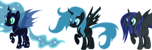Nightmare Moon x Chrysalis adoptables CLOSED by AdolfWolfed4Life