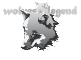 wolves legend logotype by miorio