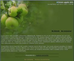 Green Apple Journal skin by Engelina-c