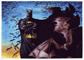 Batman and Bats by edtadeo