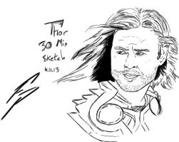 Thor 30 minute Sketch by F-Stormer-3000