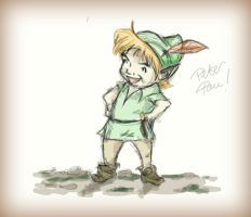Peter Pan Scetch. by TheWorldSpinsMadlyOn