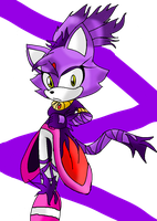 blaze the cat .:sonic BOOM style:. by chloecat1420