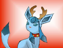 Glaceon- Christmas Spirit by A9er9erWOLF