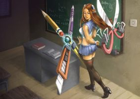 School Irelia by alvinwcy