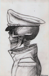 Skeleton with uniform sketch 02 by DrunkHedgehog