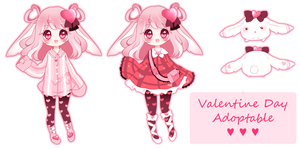 Auction- Valentine Rabbit CLOSED by PuffyPrincess