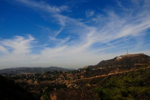 Shuttle Endeavor, T-38's, and Hollywood Sign by AndySerrano