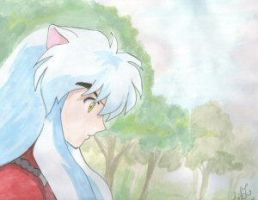 Inuyasha Water Color by vegalume