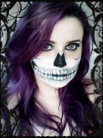 Skeleton Makeup by JadeRainbow