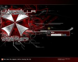 Umbrella Corporation logon by DarkDrows