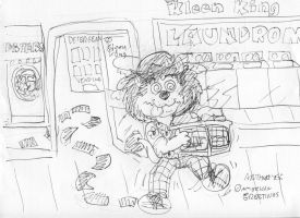 Lion Laundry Loopy by Artytoons