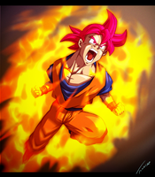 Super Saiyan God Rising by Tomycase