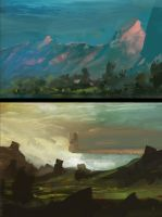 Environment Sketches by Appylon