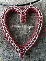 Chainmaille Heart Pendant Necklace by Barbsdesigns