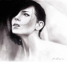 Dream. Charcoal drawing. by Art-SamiKahelin