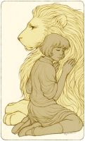 Aslan and Lucy by Eldanis