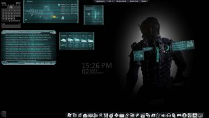 rainmeter-dead space rig armor suite skin v3 by louiezzz