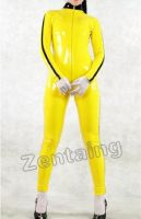 Yellow PVC Catsuit Zentai by purplejessica