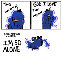 Luna is so alone by Original-Luna