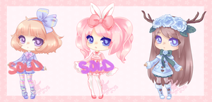 Kawaii Pastel Adopts: CLOSED by RaineSeryn
