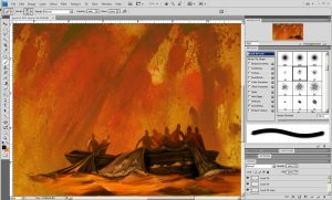 photoshop painting progress by ar0ne