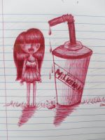 The girl and the giant milkshake by expectatinqs