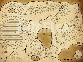 Hyrule World Map by RaZoRLeAf