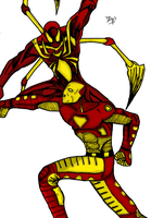 Ironman Vs. Ironspider:Colored by dnmn89