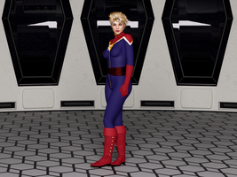 Captain Marvel by bigcurf