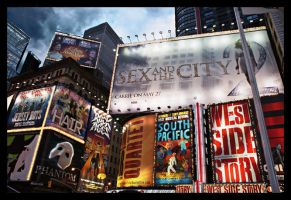 Times Square New York by F-Wilhelm