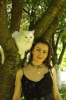 With white cat 03 by Anna-LovelyMonster