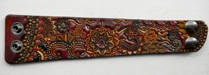 Henna Tribal Leather Cuff by AFlem