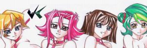 Commission: Yugioh Gift Wrap Ladies by jadenkaiba
