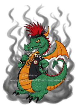 Smog the modern Wawel Dragon by Weirda-s-M-art