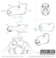 Iguanodon Model Sheet 2 by Kronosaurus82