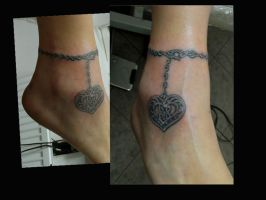 ankle pendant tattoo by Somniphorius
