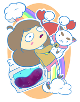 BEE AND PUPPYCAT (support meee!) by loweee