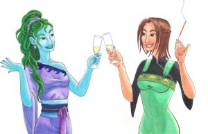A Toast -- Commission by Pointy-Eared-Fiend