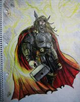 Thor - The Mighty God Of Thunder by NGC-7293