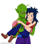 Piccolo and Kyone Art Trade by Sarah-is-Serenity