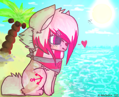 Beach chibi by felicities